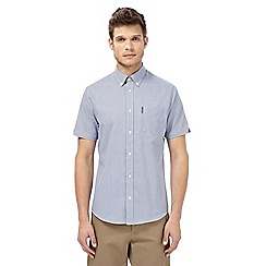 Ben Sherman - Blue checked regular fit shirt