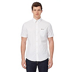 Ben Sherman - Big and tall white spotted regular fit shirt