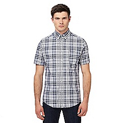 Ben Sherman - Navy checked regular fit shirt