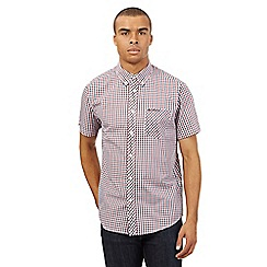 BEN SHERMAN - Big and tall blue checked shirt