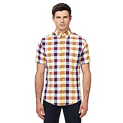 Ben Sherman - Purple and yellow checked shirt