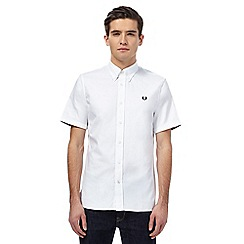 Fred Perry - White twill short sleeved shirt
