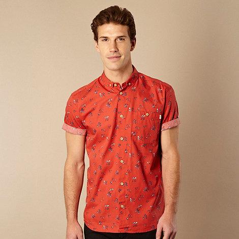 Farah 1920 - Red floral button down collar shirt