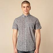 Big and tall navy mini floral shirt