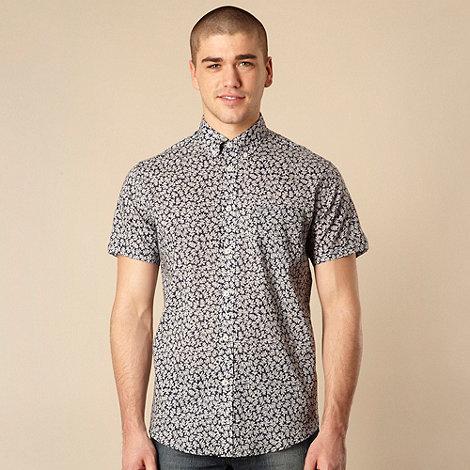 Ben Sherman - Navy mini floral shirt