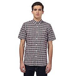 Fred Perry - Red checked short sleeved shirt