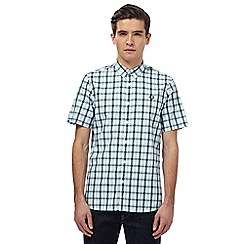 Fred Perry - Green checked short sleeved shirt