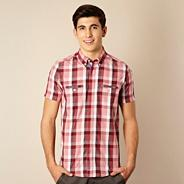 Red contrast checked shirt