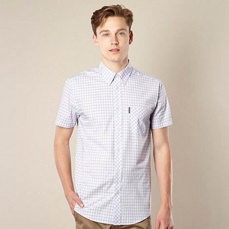 Ben Sherman - Light blue grid checked shirt