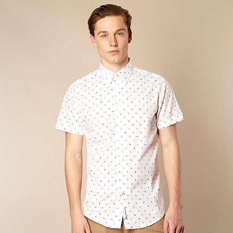 Ben Sherman - Big and tall white spot print shirt