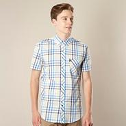 Blue graduating checked shirt