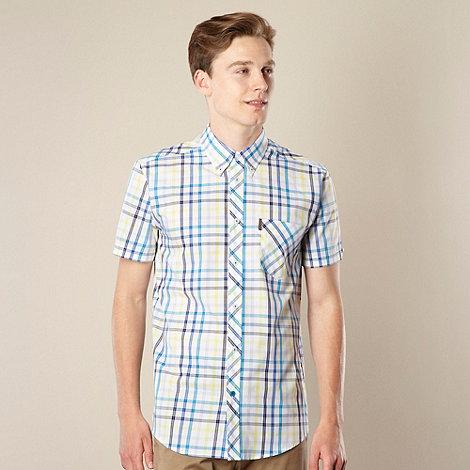Ben Sherman - Blue graduating checked shirt