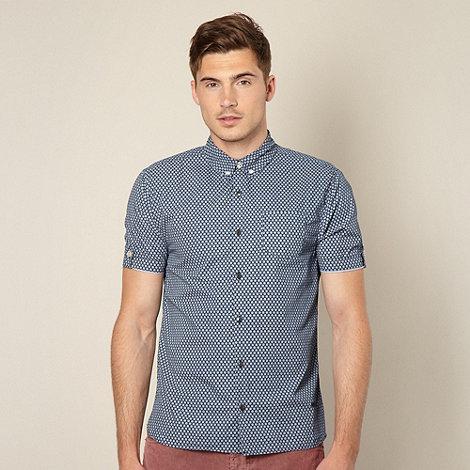 Schott - Navy rudder print shirt