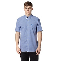 Fred Perry - Blue gingham regular fit shirt