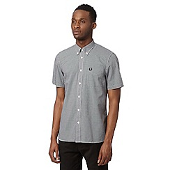 Fred Perry - Black gingham regular fit shirt