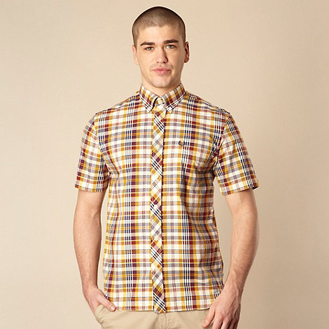 Fred Perry - Dark yellow checked shirt