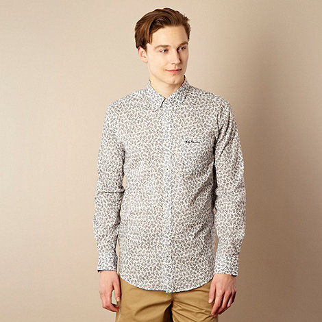 Ben Sherman - White mini floral long sleeved shirt