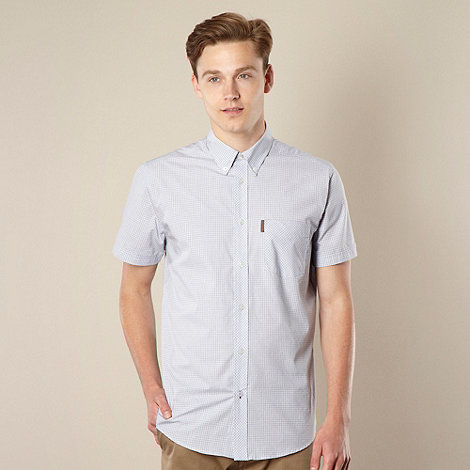 Ben Sherman - Light blue ultra fine checked shirt