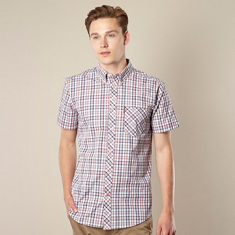 Ben Sherman - Red tonal checked shirt