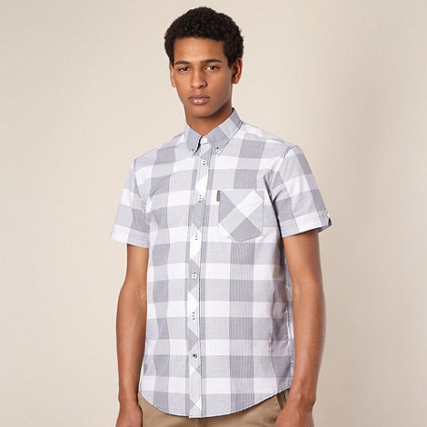 Ben Sherman - Blue checked short sleeve shirt
