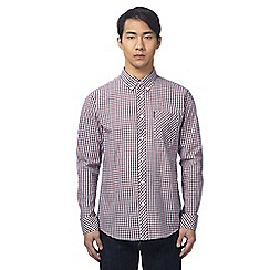 Ben Sherman - Big and tall red checked shirt