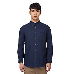 Ben Sherman - Big and tall navy 'oxford' button down shirt