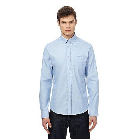Ben sherman big and tall light blue oxford shirt debenhams for Big and tall oxford shirts