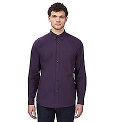Ben Sherman - Big and tall purple 'Oxford' button down shirt