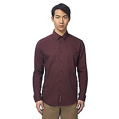 Ben Sherman - Big and tall dark red arrow print shirt