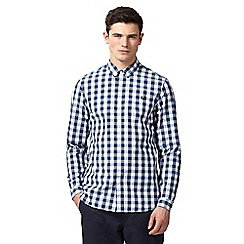 Fred Perry - Blue gingham check print button-down shirt