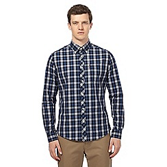 Ben Sherman - Big and tall navy checked shirt