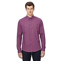 Ben Sherman - Pink gingham regular fit sleeved shirt