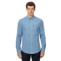 Ben Sherman - Blue windowpane checked regular fit shirt