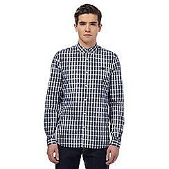 Fred Perry - Blue gingham check shirt