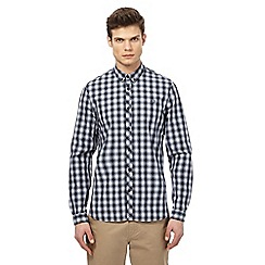 Fred Perry - Navy checked shirt