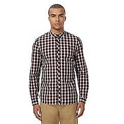 Fred Perry - Maroon check shirt