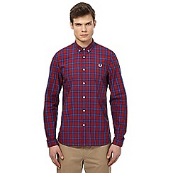 Fred Perry - Red and blue tartan printed shirt