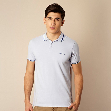 Ben Sherman - Light blue tipped polo shirt
