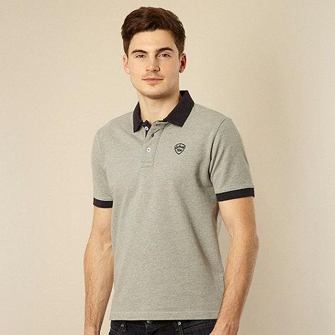 Schott - Grey contrast collar polo shirt