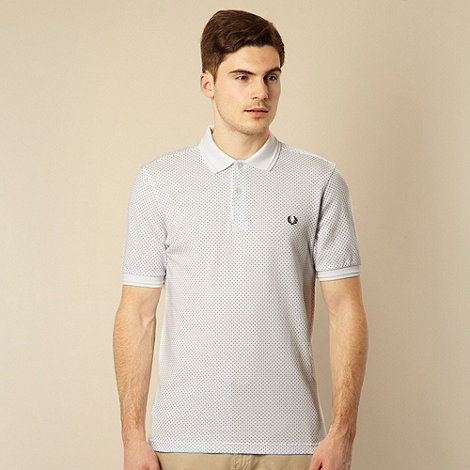 Fred Perry - White pin dot polo shirt