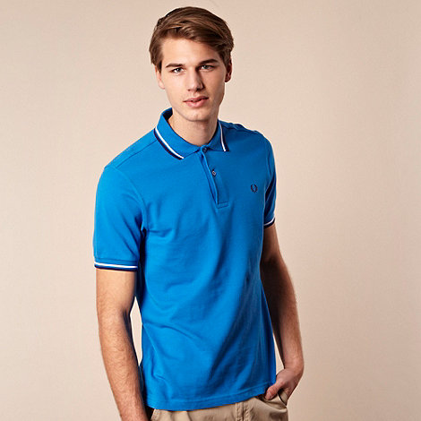 Fred Perry - Fred Perry blue tipped polo shirt
