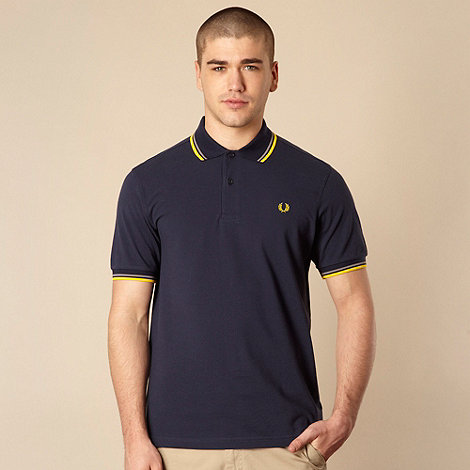 Fred Perry - Fred Perry navy double tipped polo shirt