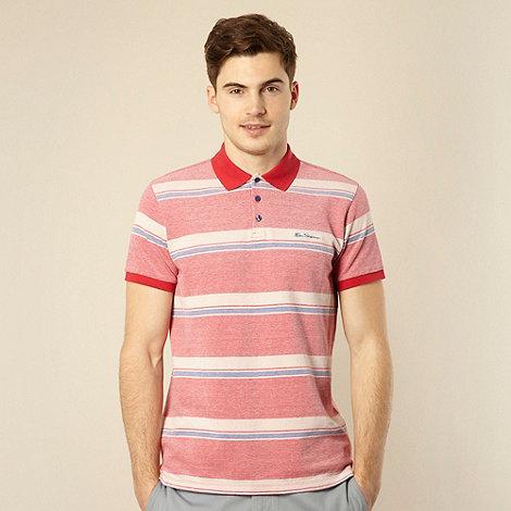 Ben Sherman - Big and tall red horizontal stripe polo shirt