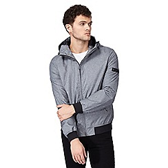 Ben Sherman - Big and tall grey 'harrington' hooded jacket