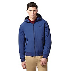 Fred Perry - Blue 'Brentham' hooded jacket