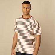 Dark red breton striped flecked t-shirt