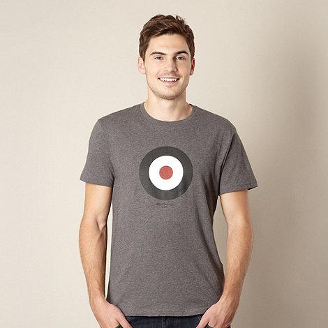 Ben Sherman - Dark grey marled target print t-shirt