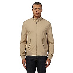Ben Sherman - Big and tall natural funnel neck harrington jacket