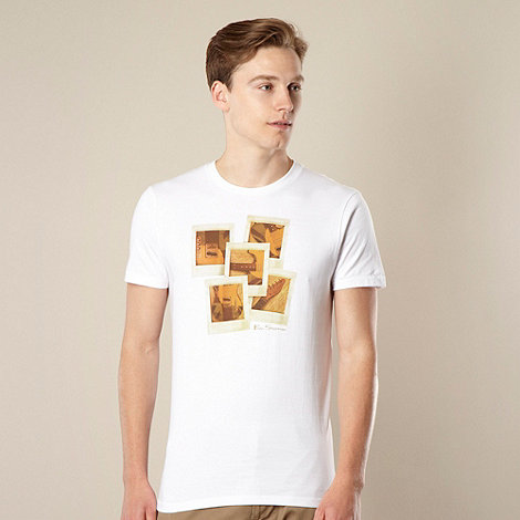 Ben Sherman - Big and tall white guitar photograph t-shirt - XXL