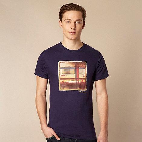 Ben Sherman - Big and tall dark blue caravan print t-shirt
